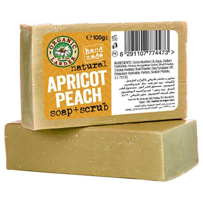 Organic Larder - Apricot And Peach Scrub Action Soap 100g