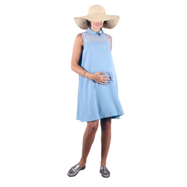 oh9shop - Blue doted dress