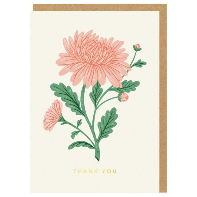 Ohh Deer - Thank You Rose Greeting Card