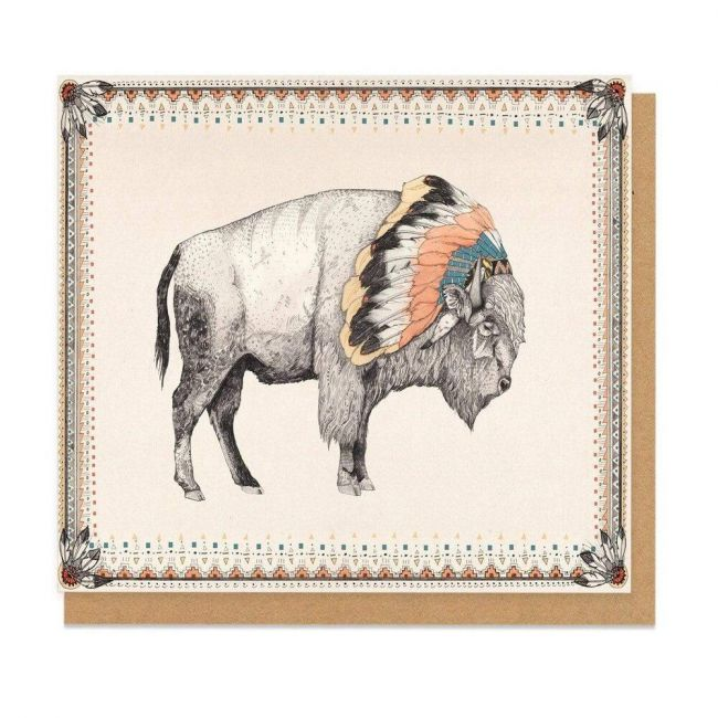 Ohh Deer - White Bison Greeting Card