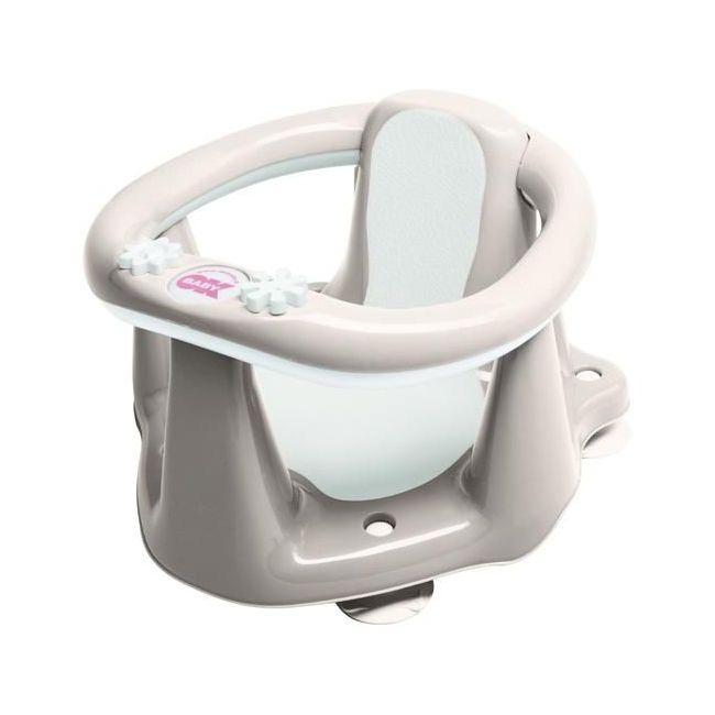 Okbaby Flipper Evolution Bath Seat with Slip-Free Rubber - Grey