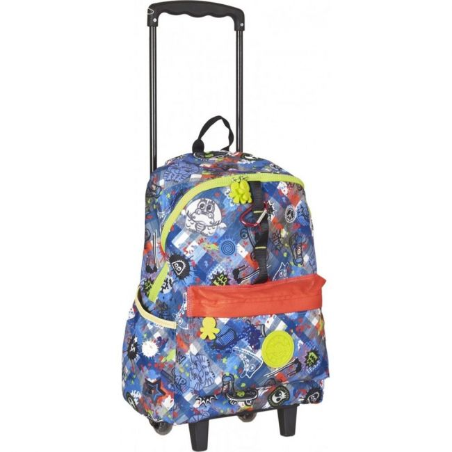 Okiedog Wild Pack Graffiti Large Trolley Bag, Jeans