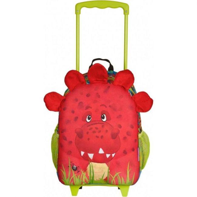 Okiedog Wildpack Junior Trolley Bag Dinosaur Medium