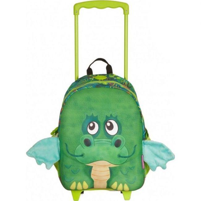 Okiedog Wildpack Junior Trolley Bag Dragon Medium