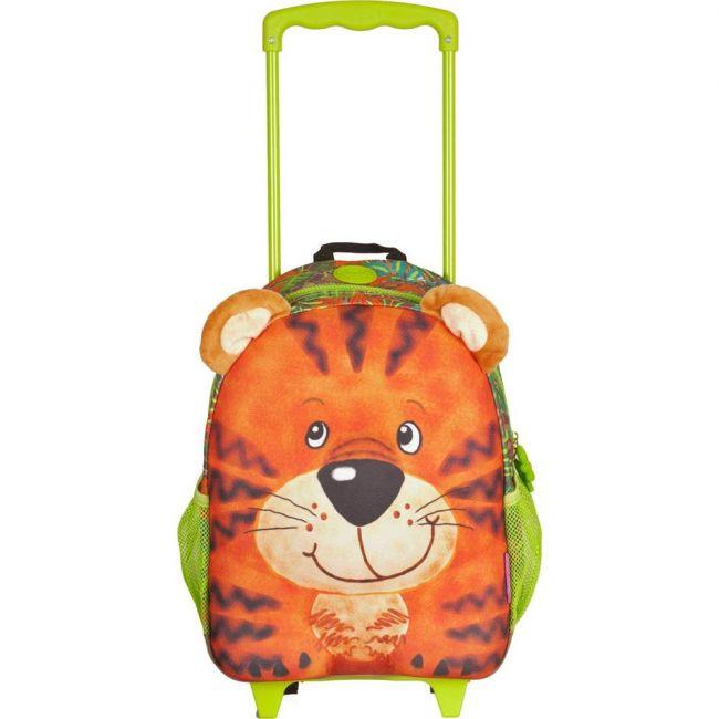 Okiedog Wildpack Junior Trolley Bag Tiger Medium