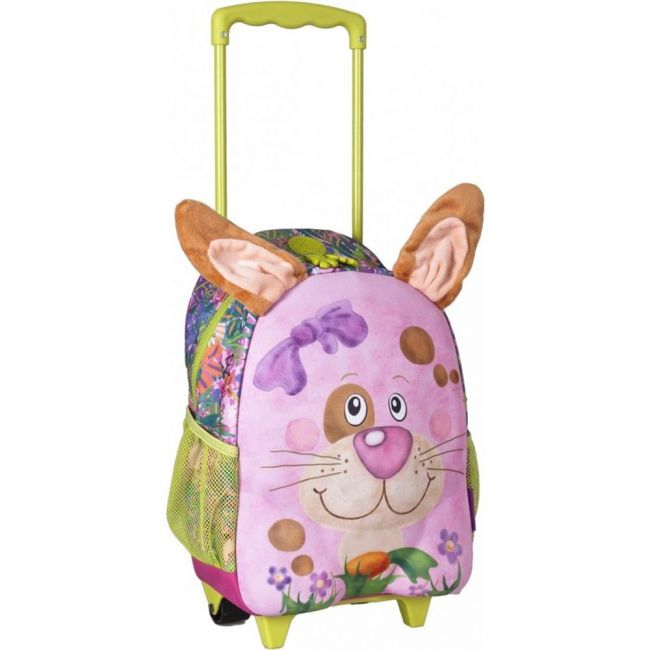 Okiedog Wildpack Junior Medium School Trolley Bag - Rabbit