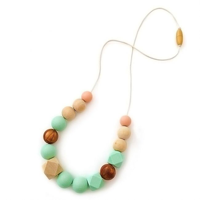 One.Chew.Three Addison Necklace - Mint