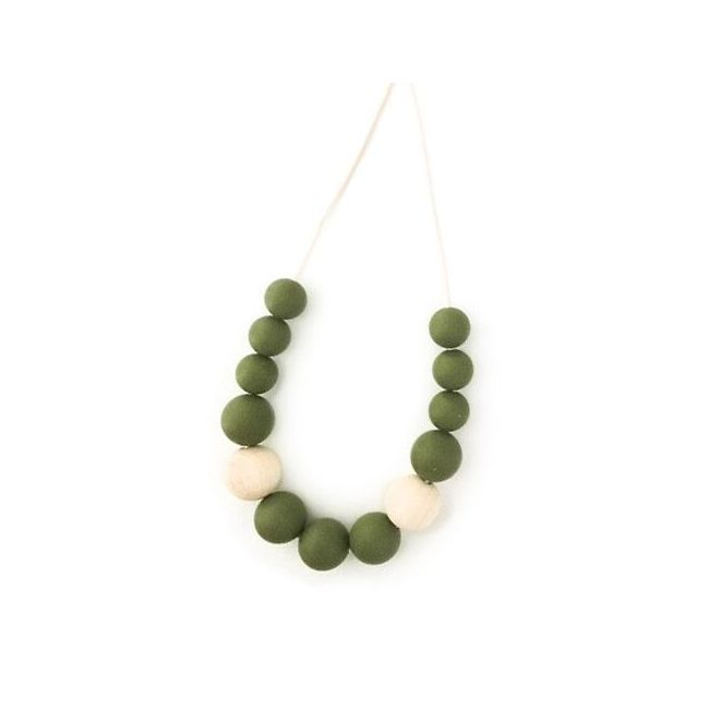 One.Chew.Three Evie Necklace - Olive