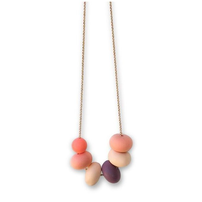 One.Chew.Three Olivia Necklace - Coral