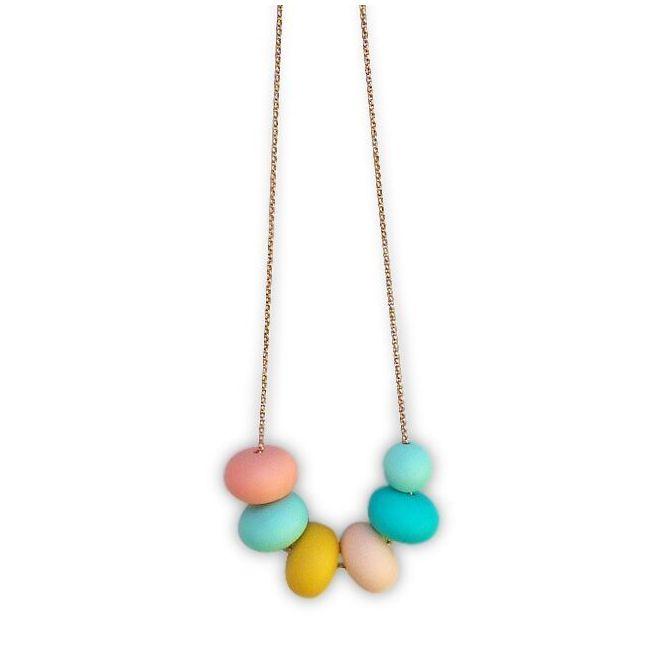 One.Chew.Three Olivia Necklace - Mint