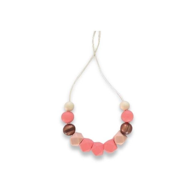 One.Chew.Three Ruby Necklace - Coral