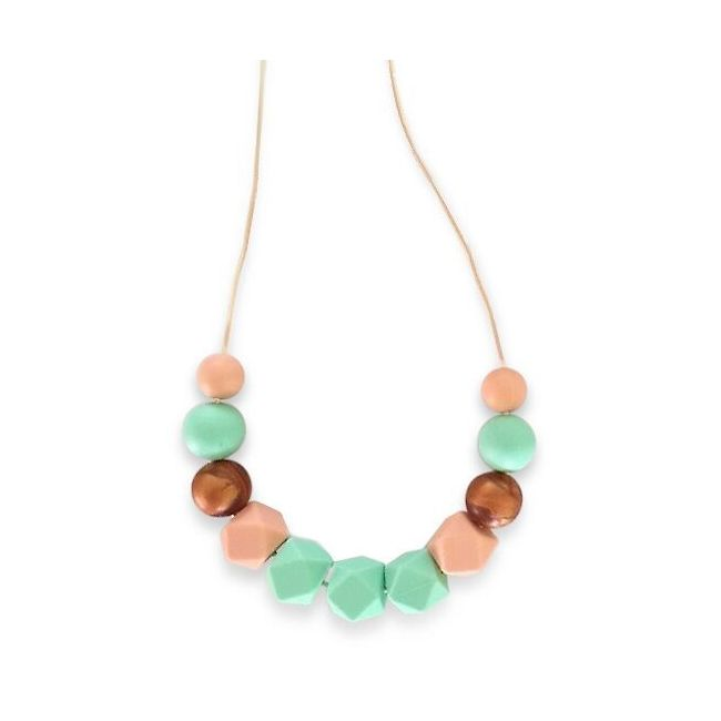 One.Chew.Three Ruby Necklace - Mint