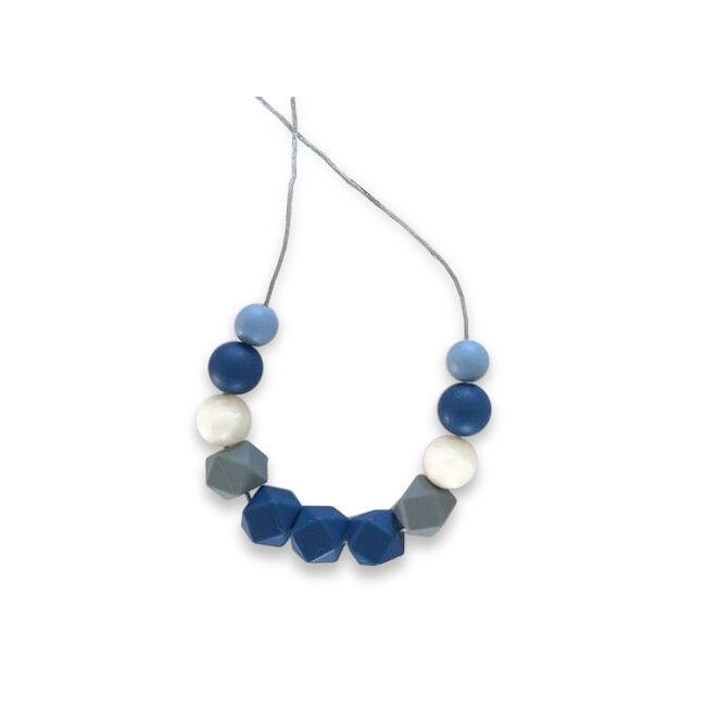 One.Chew.Three Ruby Necklace - Navy