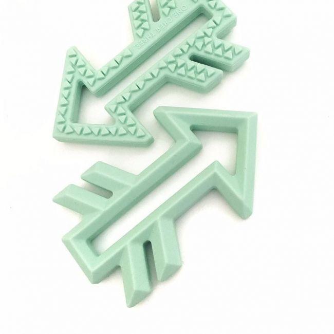 One.Chew.Three Arrow Silicone Teether - Mint
