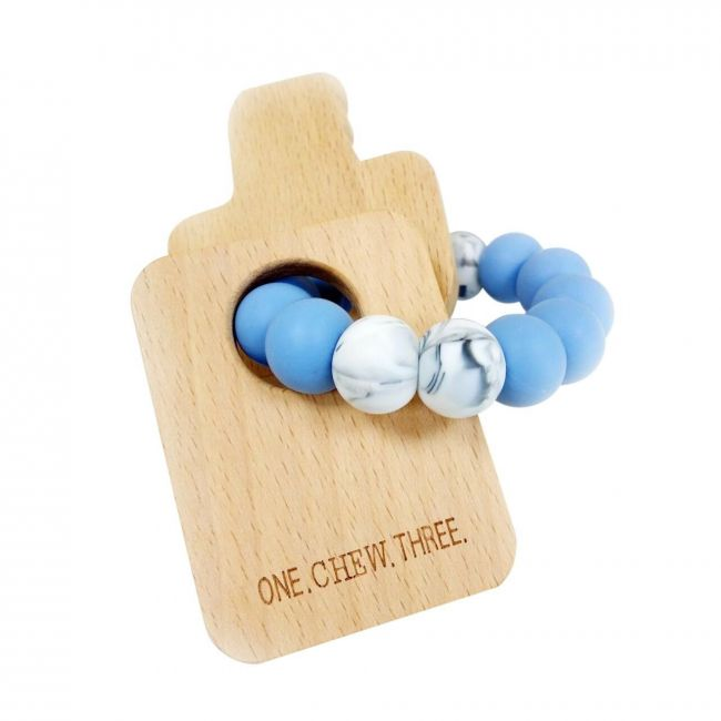 One.Chew.Three Keys Teether - Blue