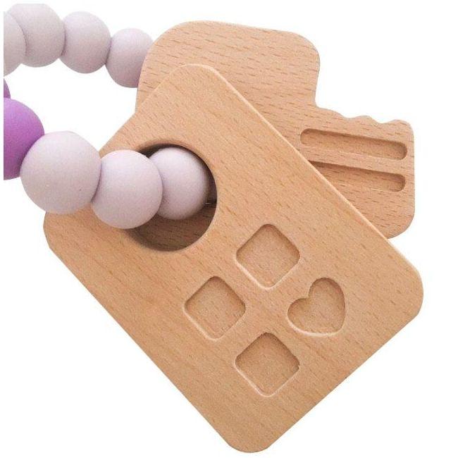 One.Chew.Three Keys Teether - Purple