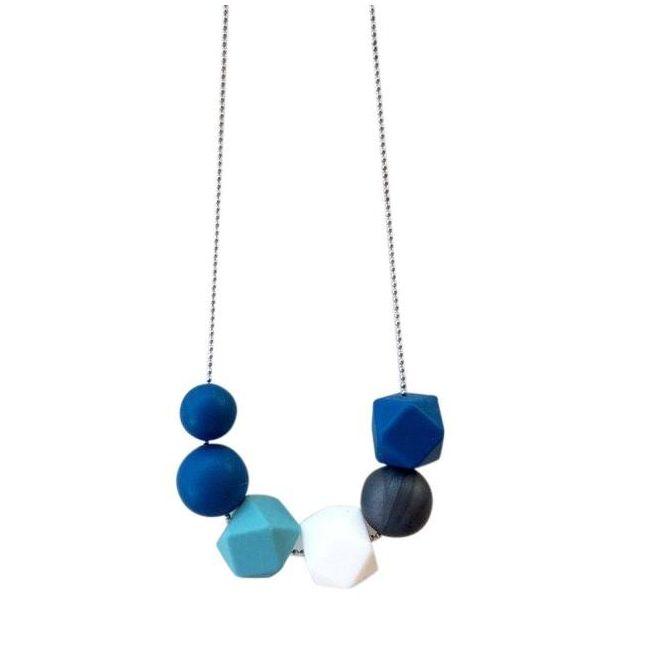 One.Chew.Three Lexi Necklace - Navy
