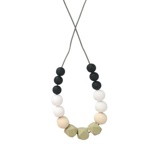 One.Chew.Three Poppy Necklace - Olive