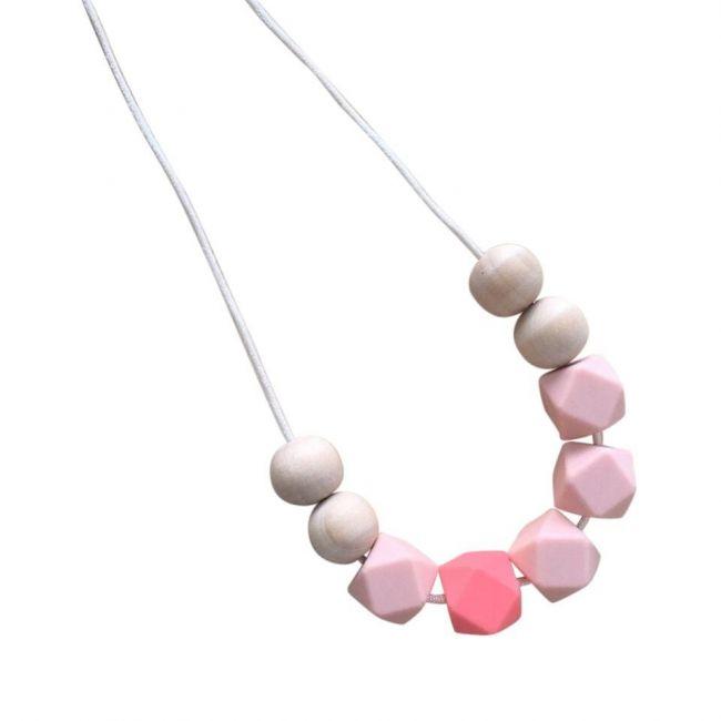 One.Chew.Three Stella Necklace - Coral