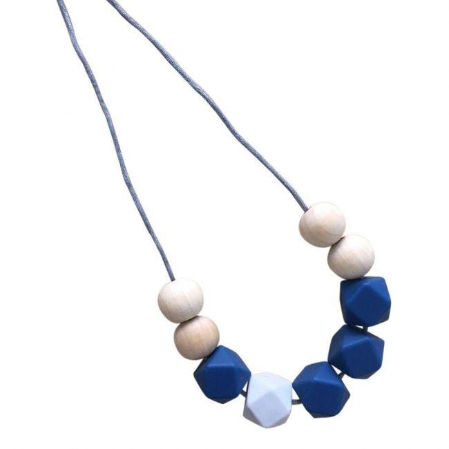 One.Chew.Three Stella Necklace - Navy