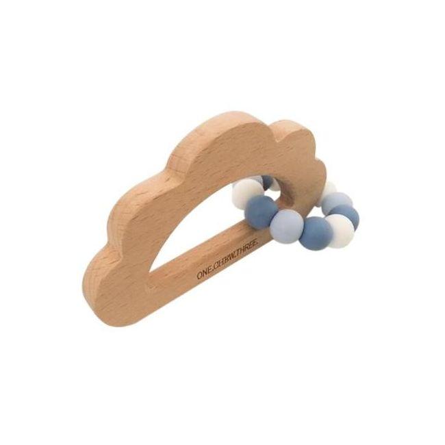One.Chew.Three Cloud Teether - Sky Blue