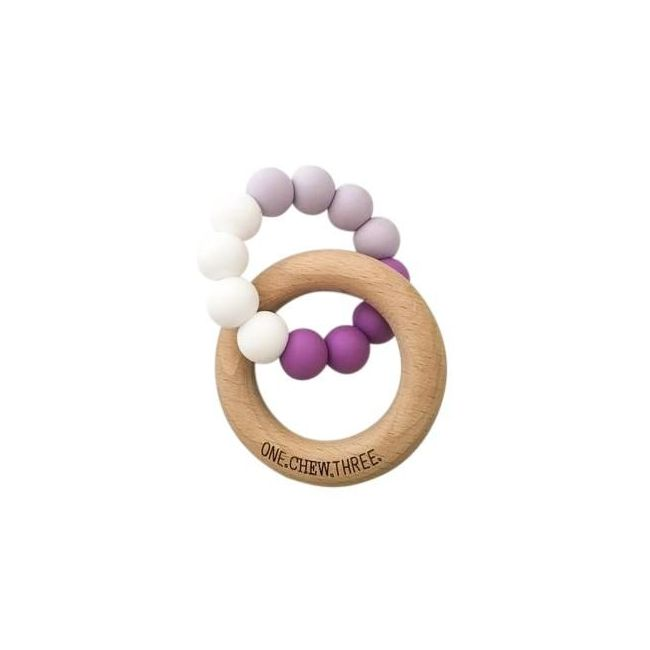 One.Chew.Three Duo Teether - Purple Ombre