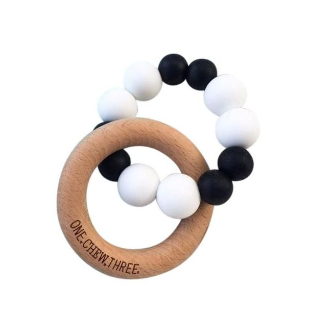 One.Chew.Three Duo Teether - Simply Mono