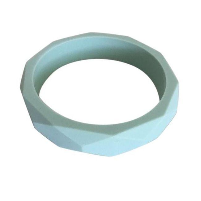 One.Chew.Three Geo Teething Bangle - Mint
