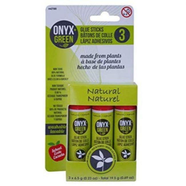 Onyx and Green 6.5gm Plant Based Glue Sticks - 3pcs