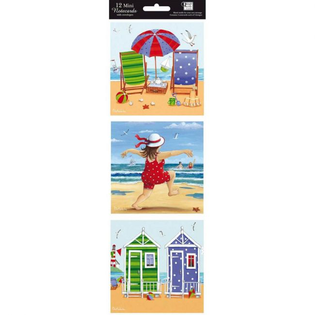 Otter House - Hanging Notecards 12 - In - Seaside - Blue