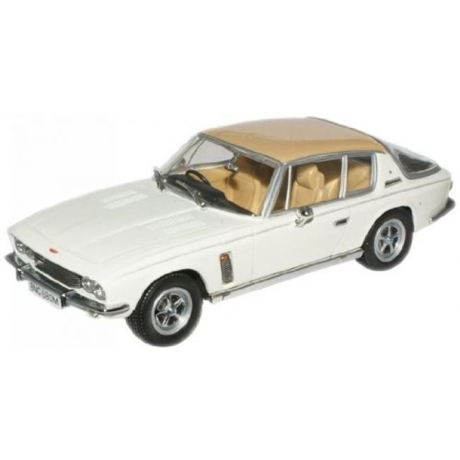Oxford Diecast JI007 Old English White/Tan Jensen Interceptor MkIII Toy Car