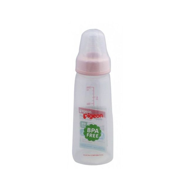 Pigeon Transparent Cap Plastic Feeding Bottle - 200ml