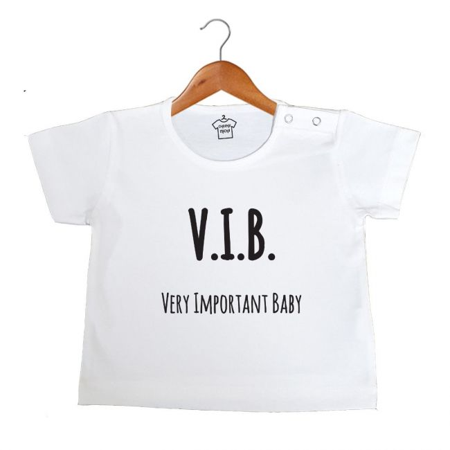 Cheeky Micky - T-shirt with Message : V.I.B. Very Important Baby Age: 6-12 months (White)