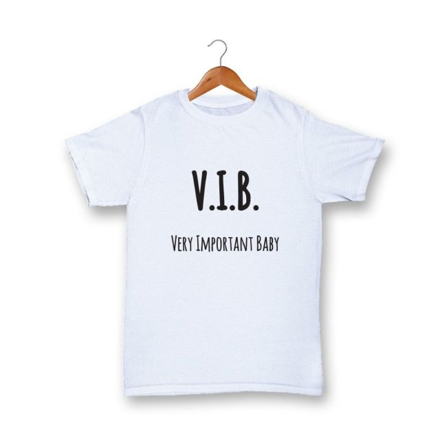 Cheeky Micky - T-shirt with Message : V.I.B. Very Important Baby Age: 1-2 years (White)