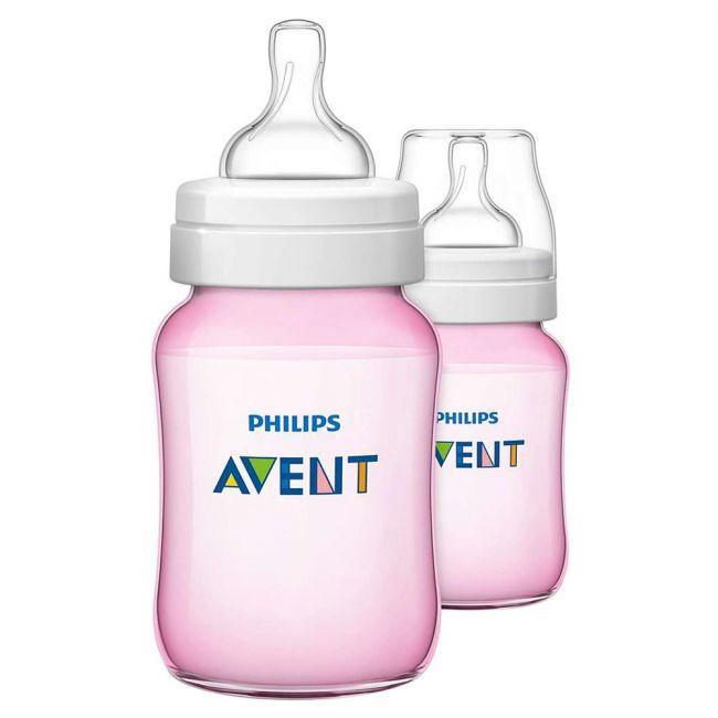 Philips Avent P.P. Bottle 260ml x2 Pink