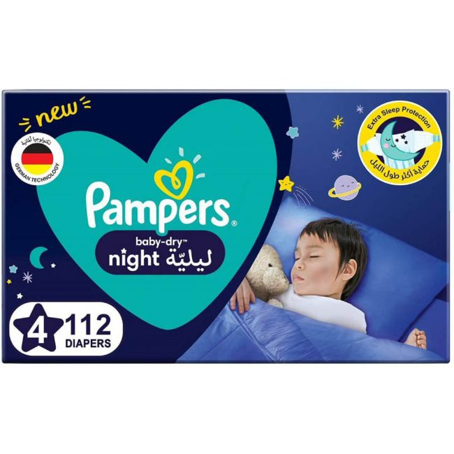 Pampers - Baby-Dry Diapers, Size 4- 112 Count
