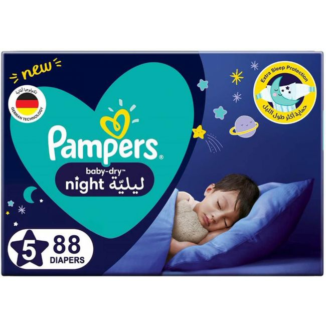 Pampers - Baby-Dry Diapers, Size 5 - 88 Count