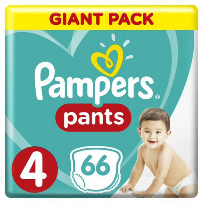 Pampers - Pants Diapers, Size 4, Maxi, 9-14 Kg, Giant Pack - 66 Count