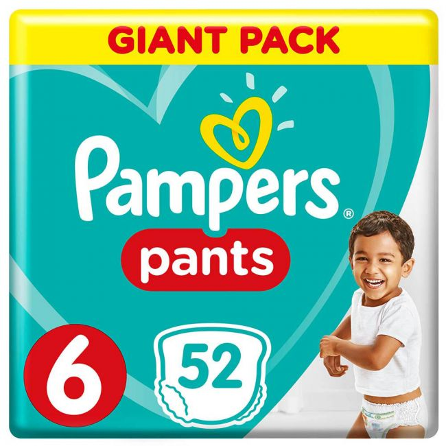 Pampers - Pants Diapers, Size 6, Extra Large, 16+ Kg, Giant Pack - 52 Count
