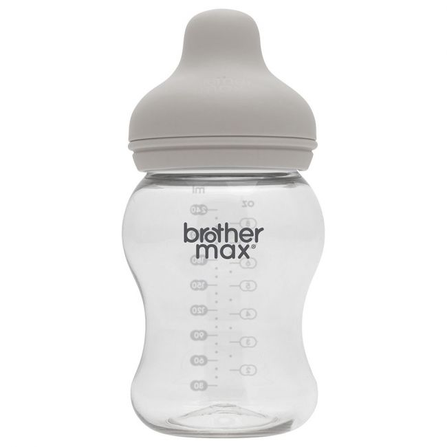 Brother Max PP Green Extra Wide Neck M Teat Feeding Bottle - 240ml