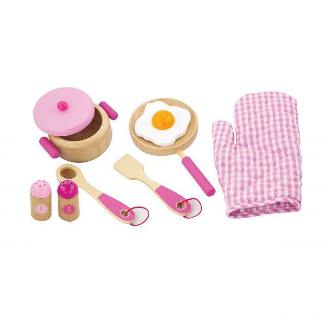 Viga Cooking Tool Set - Pink