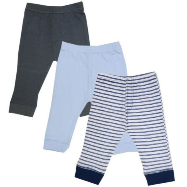 Luvable Friends - Tapered Ankle Pants 3-Pack - Blue Stripe
