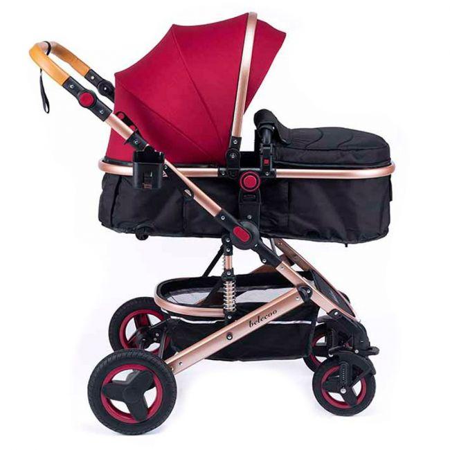 Belecoo - 5 Red - 3 in 1 Lite Pram/Stroller