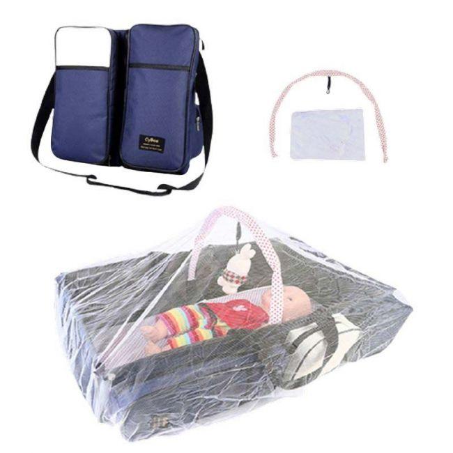 Cybee - 9 in 1 Mummy Bag & Baby Travel Bed & Diaper Bag - Beige