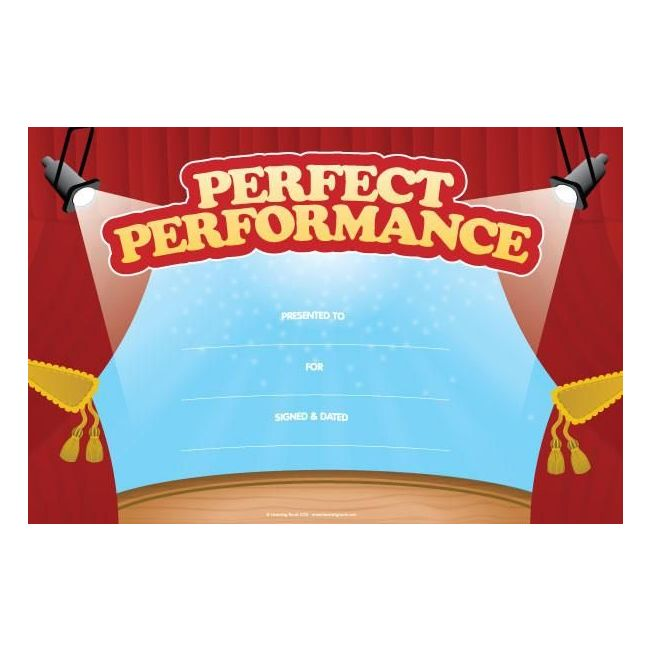 Performance Award (Pack of 25 Certificates) By Learning Roots Book