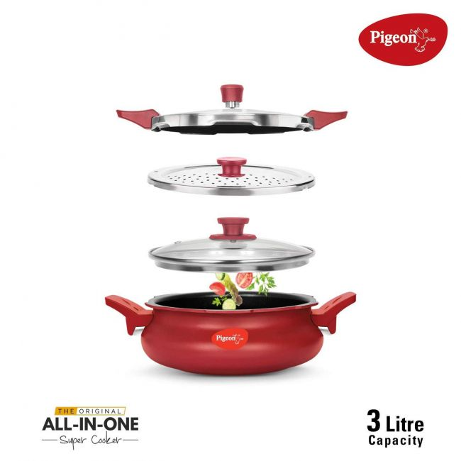 Pigeon - All In One Super Cooker Red 3 Liters 620 R