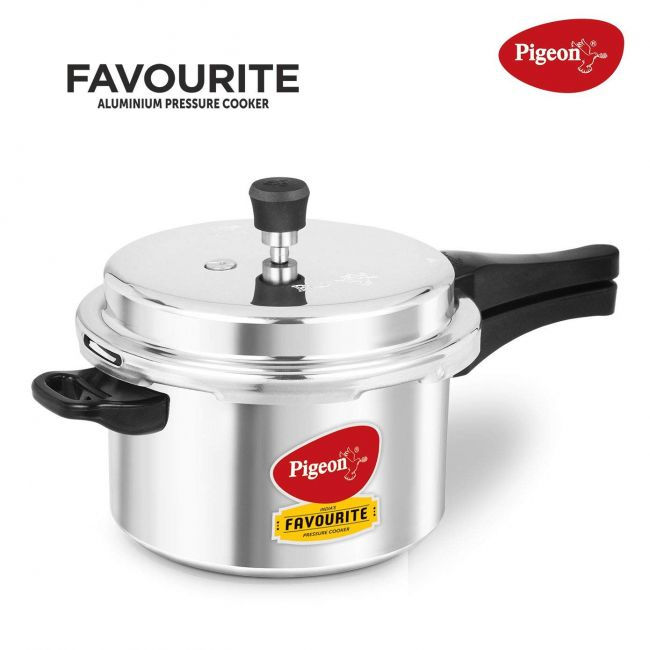 Pigeon - Aluminum Pressure Cooker 5 Litres Silver Pgn 103 Sir