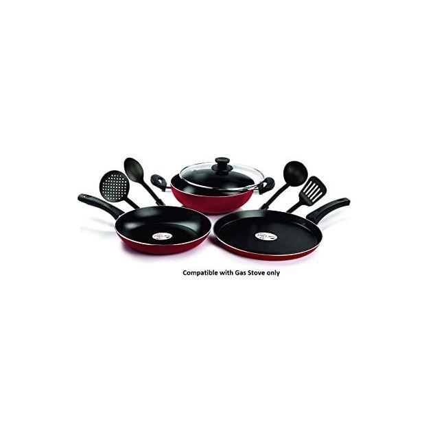 Pigeon - Mio Cook Ware Set Red Black 12029 8 Pieces