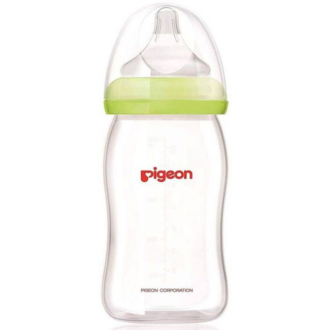 Pigeon Glass Wide Neck Feeding Bottle - 240ml