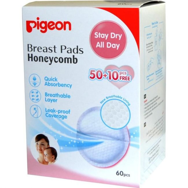 Pigeon - Breast Pads Honey Comb - 50+10 Free Pcs